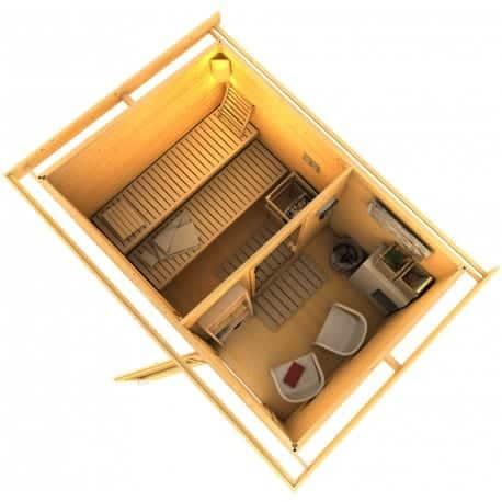 sauna ext rieur 6 8 places bois massif quality spa. Black Bedroom Furniture Sets. Home Design Ideas