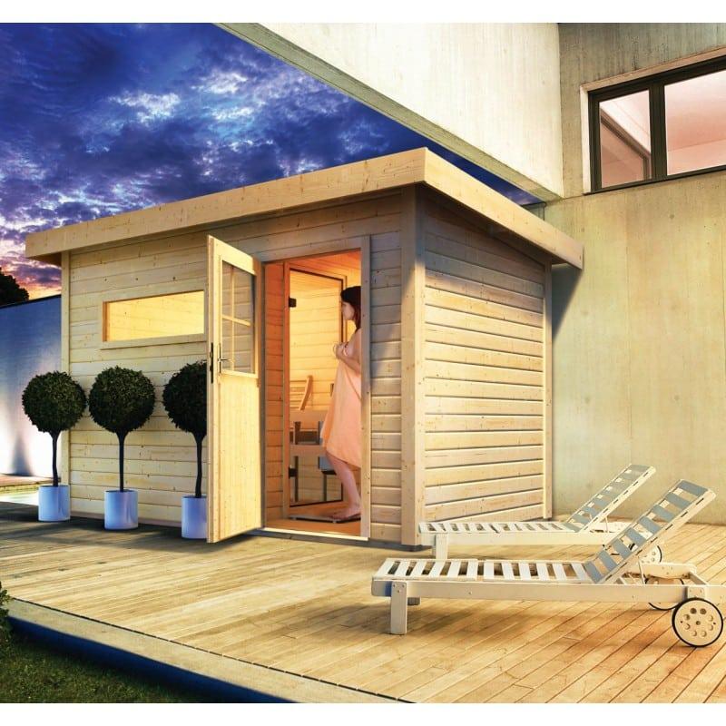 SAUNA EXTÉRIEUR 6 À 8 PLACES BOIS MASSIF   Quality Spa | Vente De Spas,  Saunas U0026 Hammams