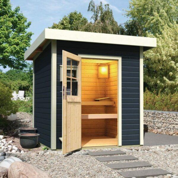 Sauna D Extérieur sauna 3/4 places exterieur anthracite - quality spa   vente de spas