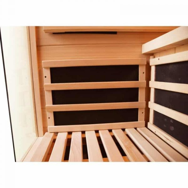 sauna infrarouge luxe 2 places. Black Bedroom Furniture Sets. Home Design Ideas
