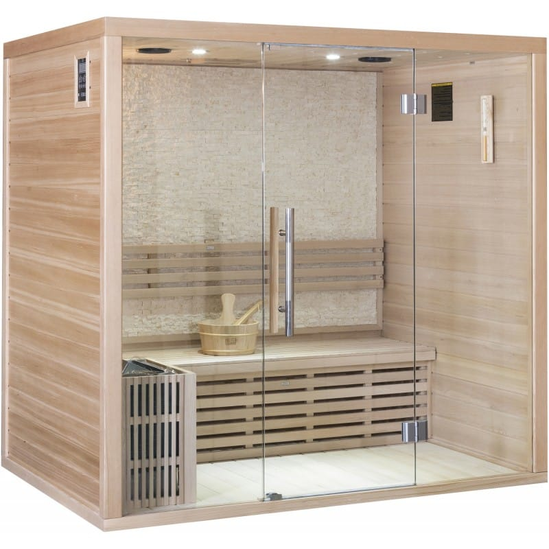 sauna traditionnel finlandais luxe 4 places. Black Bedroom Furniture Sets. Home Design Ideas