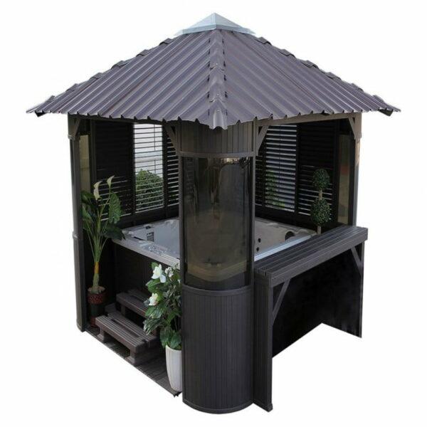 abri pour spa type gazebo - quality spa | vente de spas, saunas