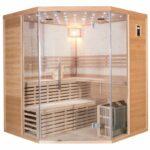 sauna-traditionnel-luxe-5-6-places-Quality Spa-poele-sawo-9000w