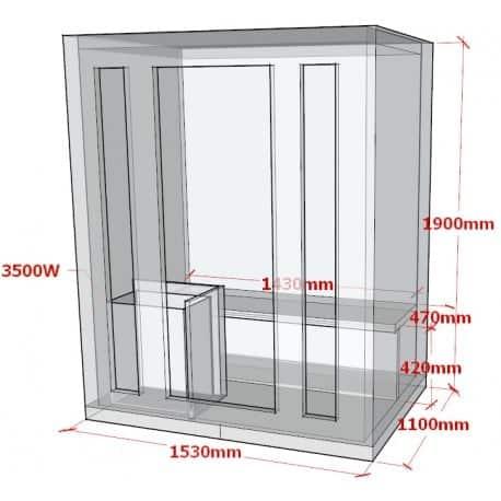 sauna-traditionnel-3-places-plan